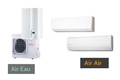 pompe air-air et air-eau