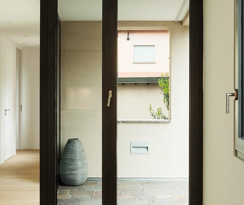 porte double vitrage moderne