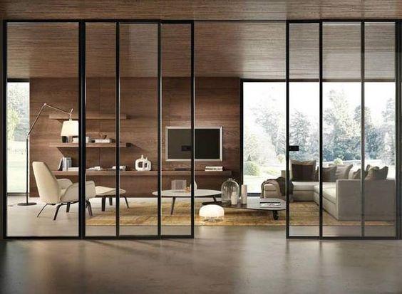 baie vitrée coulissante intérieure