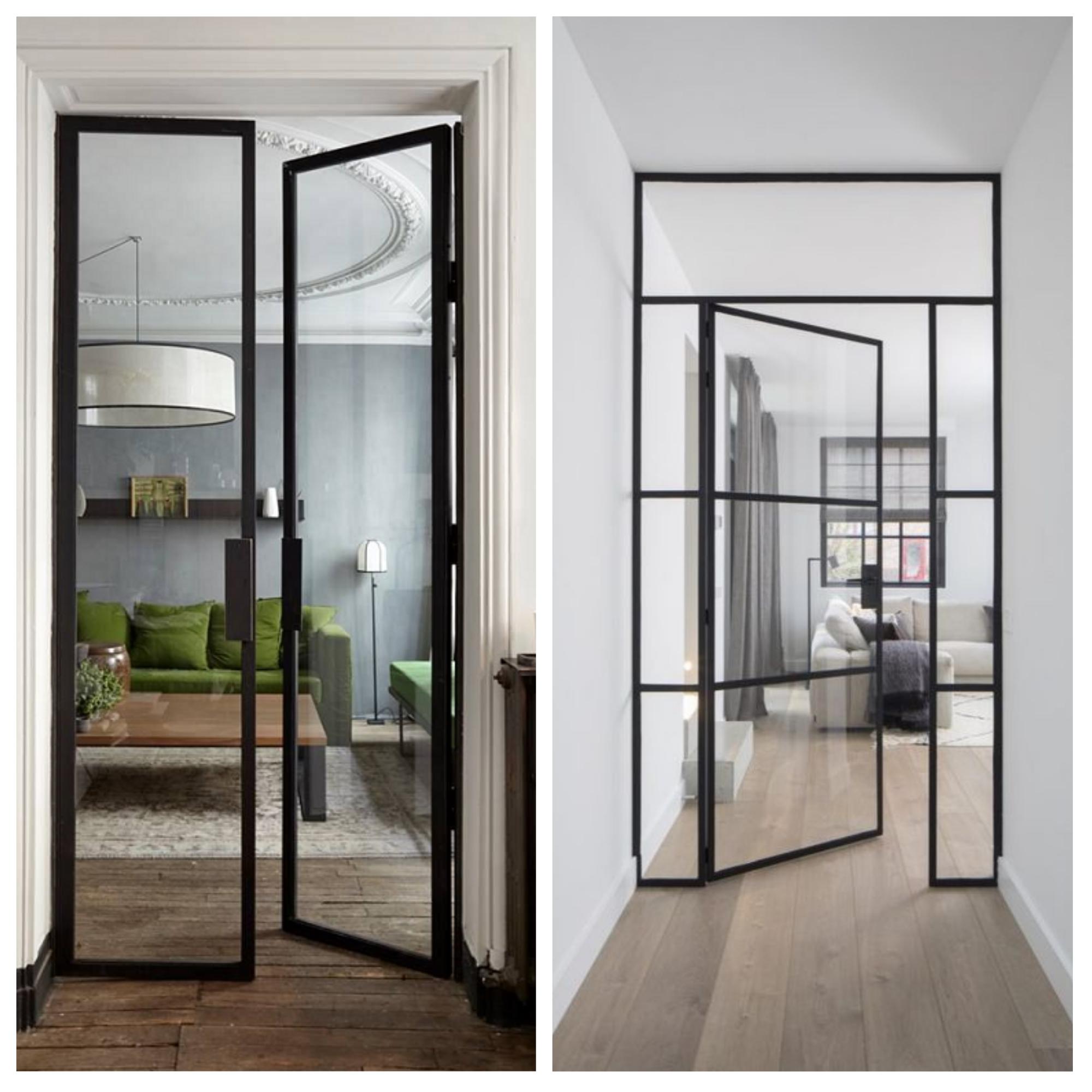 Porte vitrée - hall-living