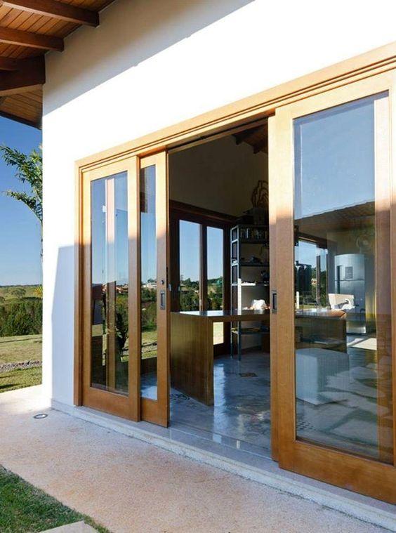 baie vitrée coulissante en bois